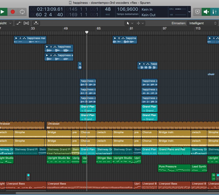 Happyness is easy - Logic Pro Arrangement
